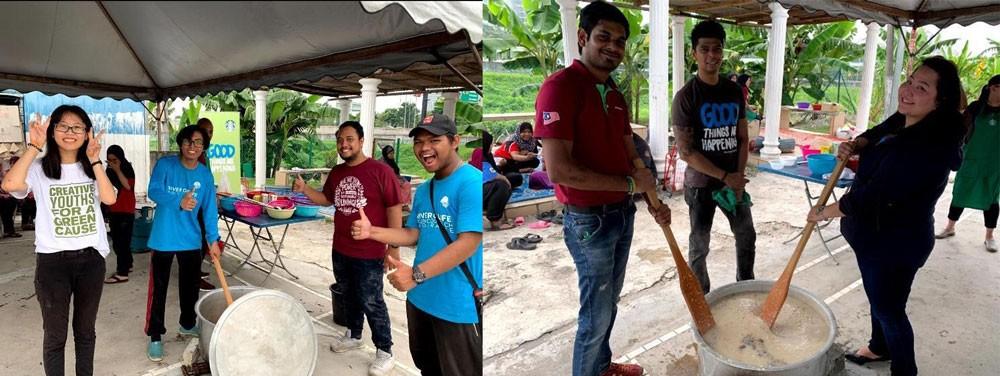 Sharing Bubur Lambuk with 400 Ikan Emas Communities