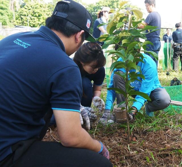 Coway Staffs Planting Trees at Sungai Bunus