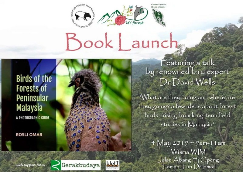 """Malaysian Nature Society's """"Birds of The Forests of Peninsular Malaysia"""" Photographic Guide Book Launched at TTDI"""