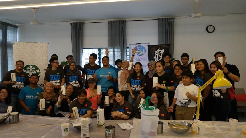 Soap-making workshop with Starbucks Malaysia at YWCA