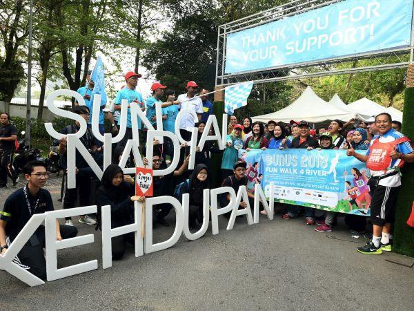 500 peserta jayakan jalan santai Sungai Bunus