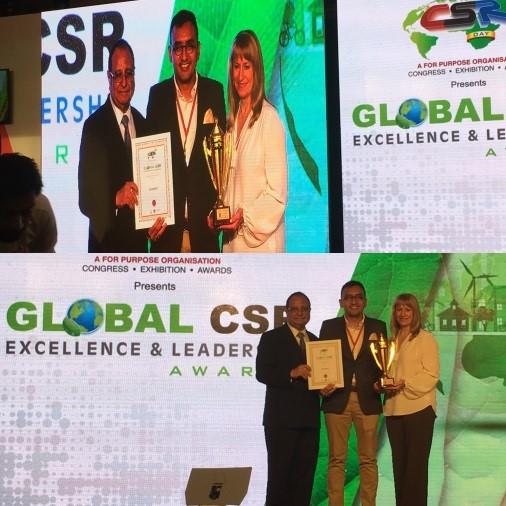 "EcoKnights Bagged ""Best NGO Leadership"" Award at the World CSR Congress"
