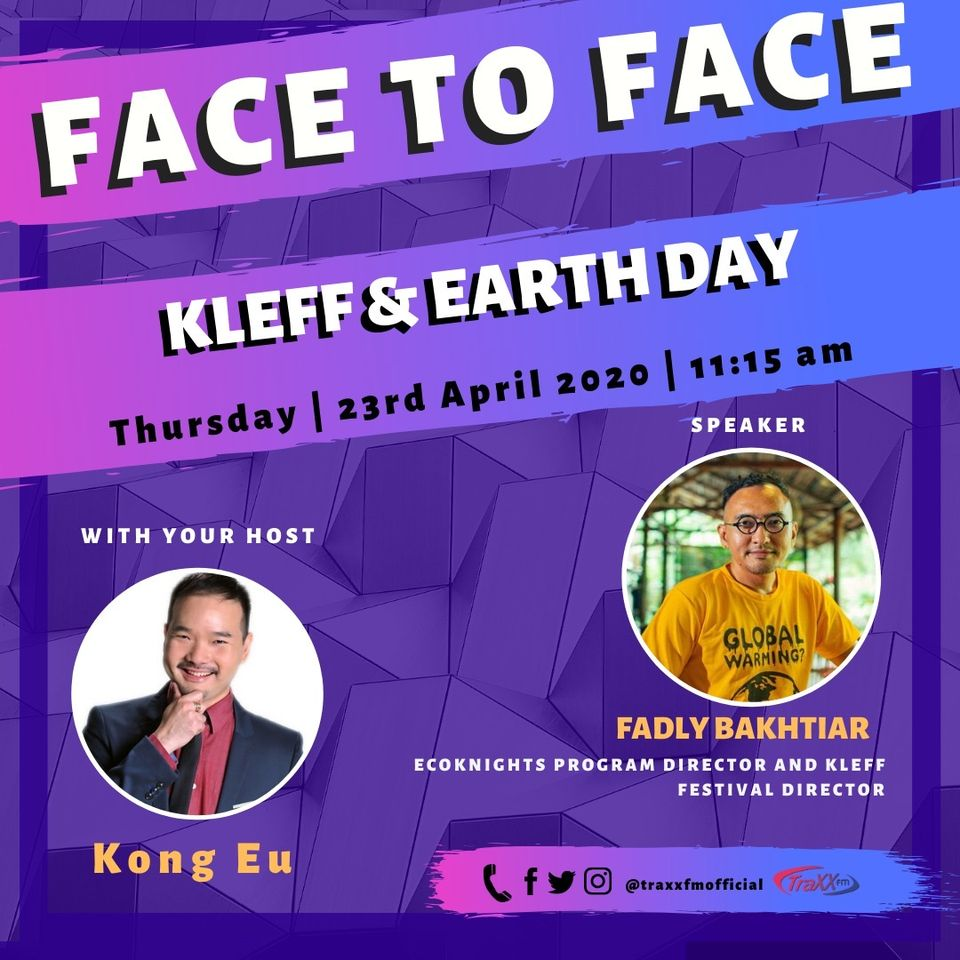 Fadly Bakhtiar invited as guest for Face to Face segment with Kong Eu, Traxx FM
