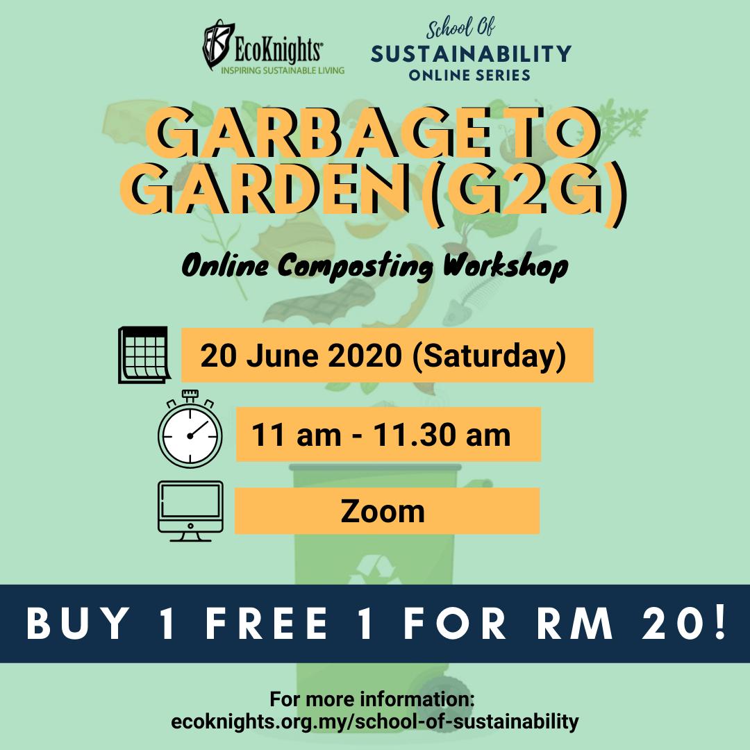 SOS Online Series – Online Composting Workshop: Garbage To Garden