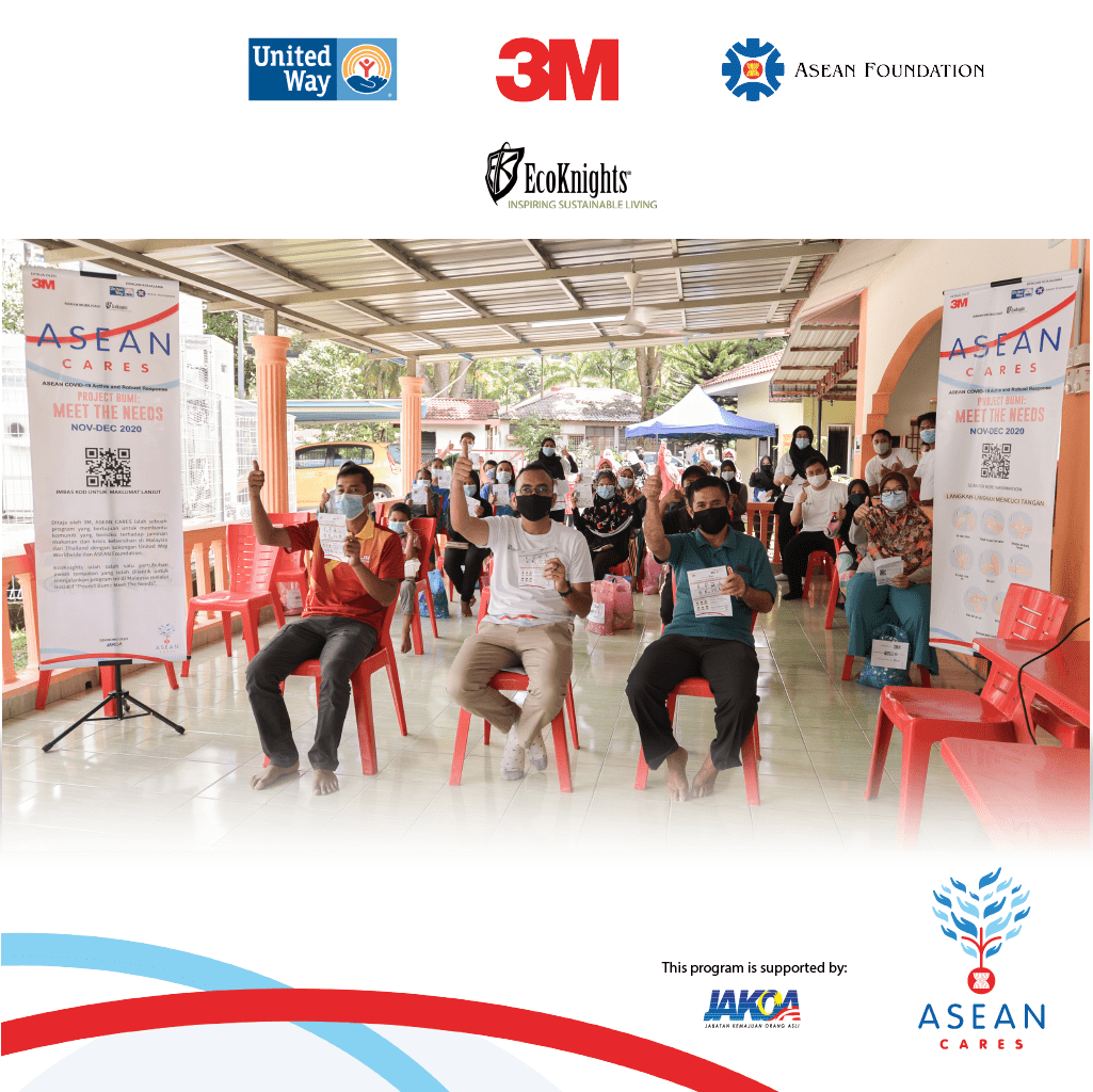 Desa Temuan Bukit Lanjan Community Benefitted from Supply Kits and Training of Trainer; Health and Safety Demonstration to Combat COVID-19 under ASEAN CARES