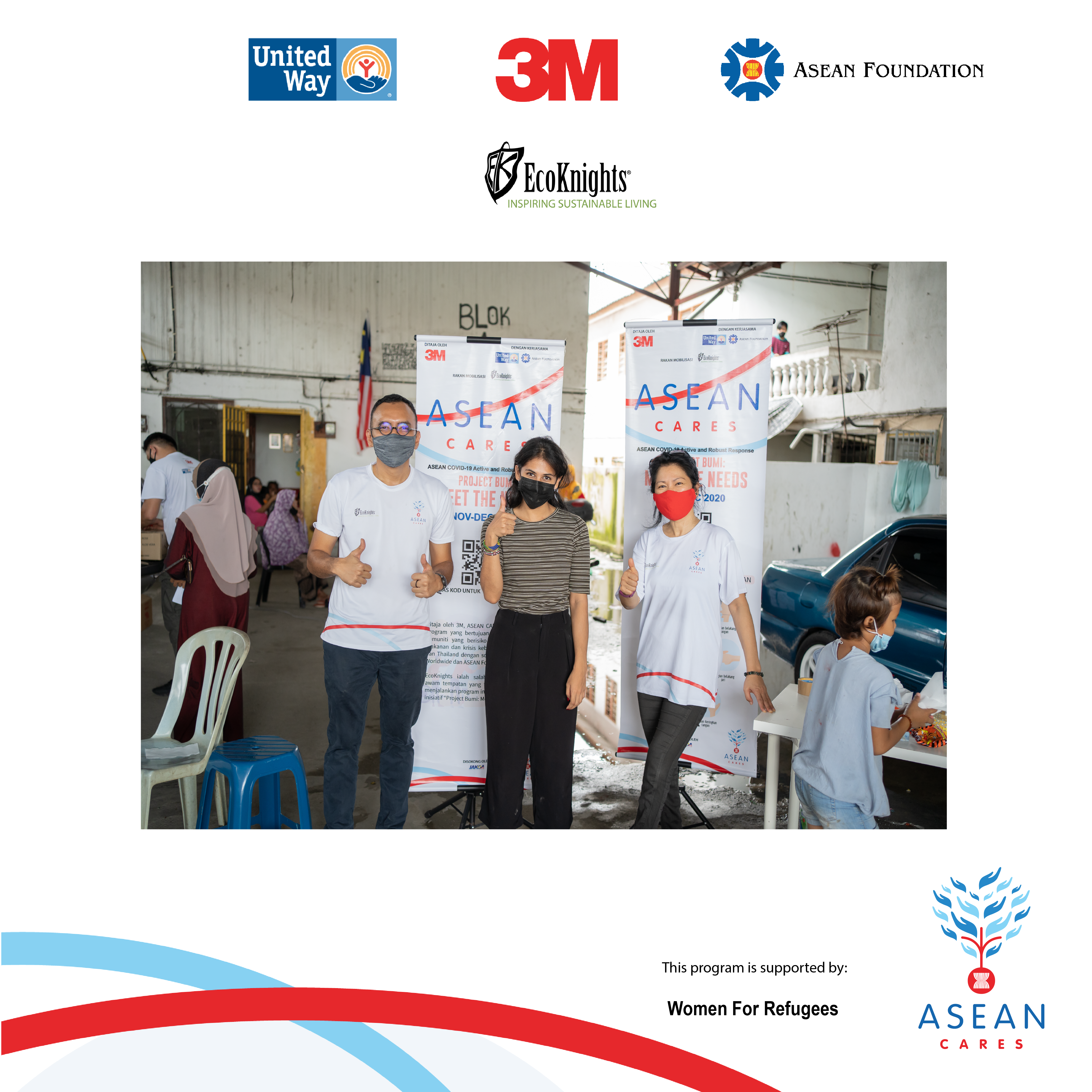 EcoKnights continues the ASEAN CARES initiative of reaching out to the vulnerable and indigenous communities of Malaysia – this time assisting the refugees and migrants in the Kuala Lumpur District.