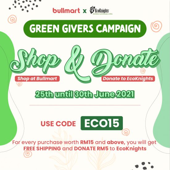 Bullmart X EcoKnights, Shop & Donate with Green Givers Campaign