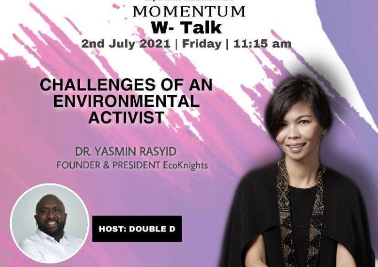 Yasmin Rasyid interviewed for W Talk: Empowering Women segment with Double D, Traxx FM