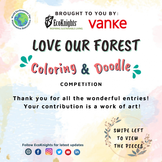 """World Environment Day: """"Love Our Forest"""" Digital Art Competition by EcoKnights and Vanke Malaysia"""